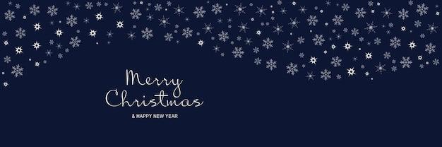 Affiche de joyeux noël et nouvel an 2022 bannière minimale de noël avec motif de flocons de neige blancs