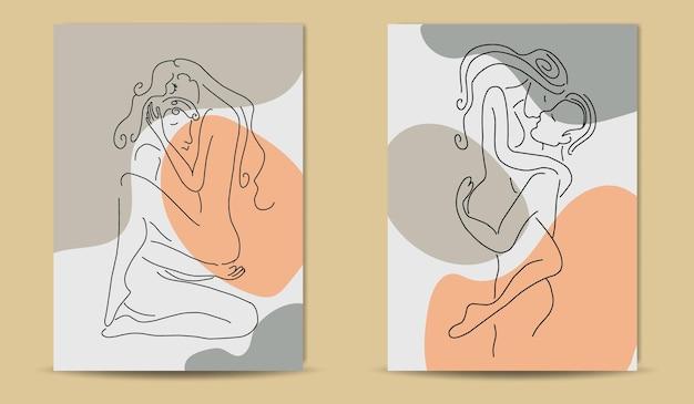 L'affiche de kamasutra boho couvre un dessin au trait