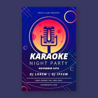 Affiche karaoké dans le style abstrait de la musique