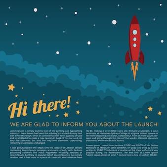 Affiche de lancement de fusée