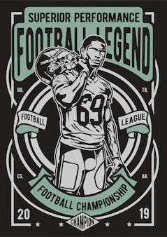 Affiche de la légende du football