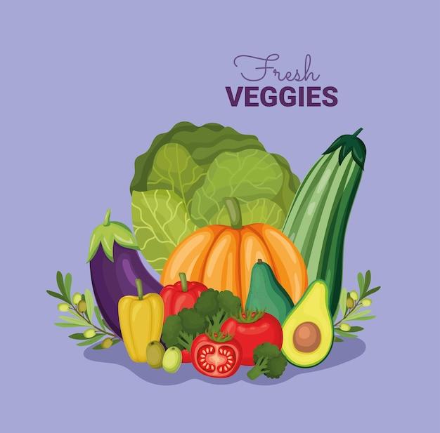 Affiche de légumes frais