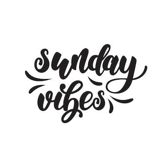 Affiche de lettrage du dimanche