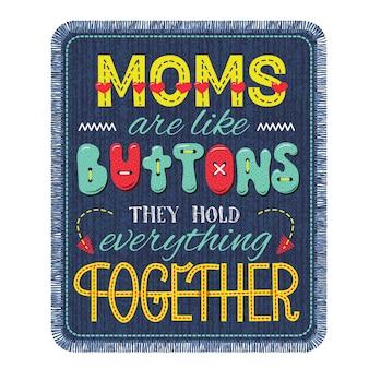 Affiche de lettrage de la fête des mères