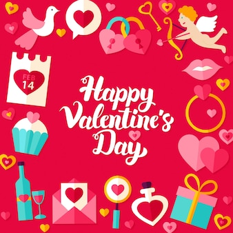 Affiche de lettrage de la saint-valentin. illustration vectorielle de la calligraphie moderne love holiday concept.