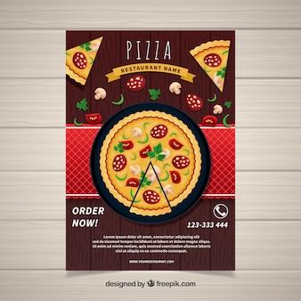 Affiche de livraison de pizza
