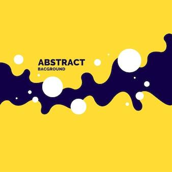 Affiche lumineuse avec illustration vectorielle de vagues dynamiques dans un style minimal