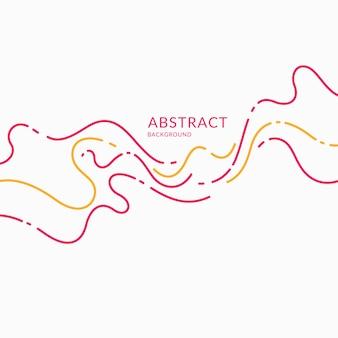 Affiche lumineuse avec illustration vectorielle de vagues dynamiques