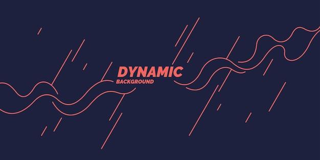Affiche lumineuse avec des vagues dynamiques. illustration vectorielle dans un style plat minimal