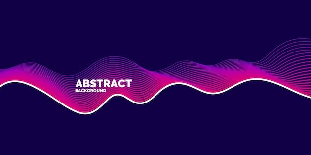 Affiche lumineuse avec des vagues dynamiques. style plat minimal d'illustration vectorielle