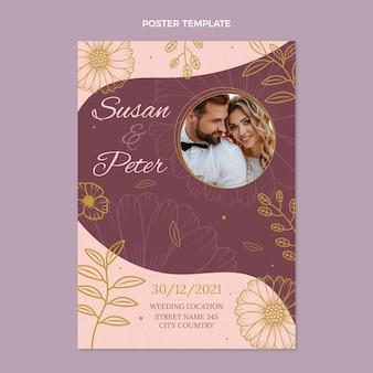 Affiche de mariage dessinée à la main