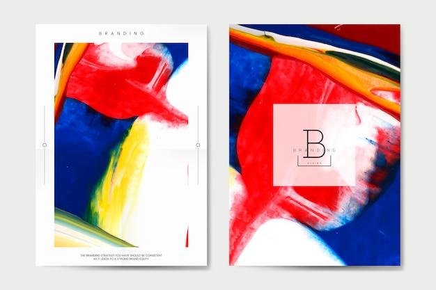 Affiche de marque avec le vecteur de dessin abstrait
