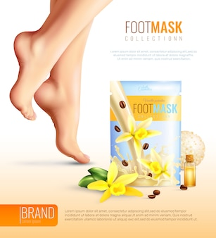Affiche de masque de pieds