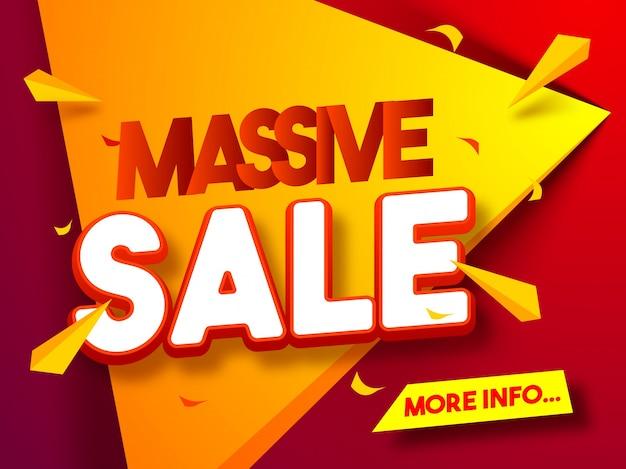 Affiche massive de vente, conception de bannière ou de prospectus.