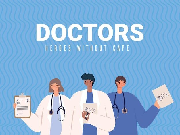 Affiche de médecins mignons