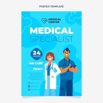 Affiche médicale plate