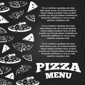Affiche de menu de pizza chalkboard