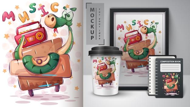 Affiche et merchandising crazy snake