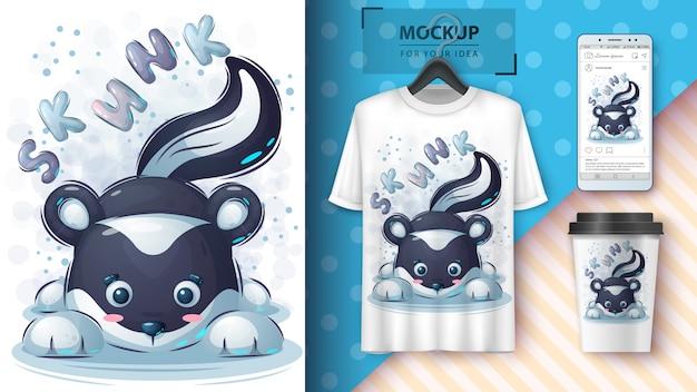 Affiche et merchandising de la jolie skunk