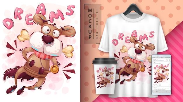 Affiche et merchandising jump dog