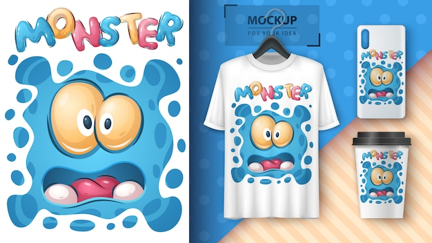 Affiche et merchandising de monstre mignon