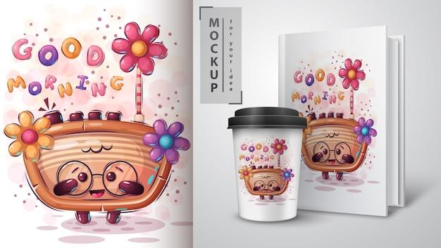 Affiche et merchandising radio flower