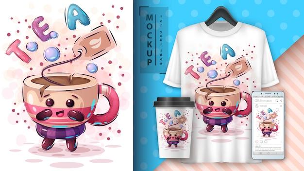 Affiche et merchandising de sachets de thé