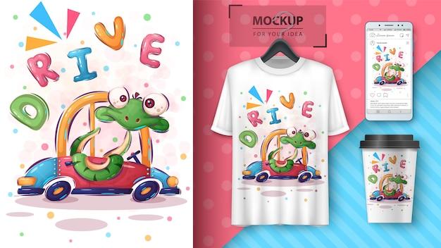 Affiche et merchandising de snake drive