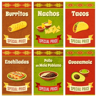 Affiche mexicaine de nourriture