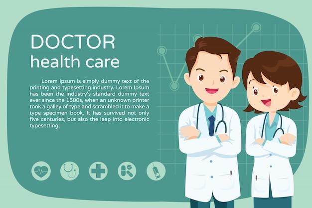 Affiche de mise en page de médecin intelligent