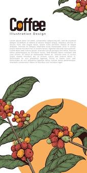 Affiche de modèle de café
