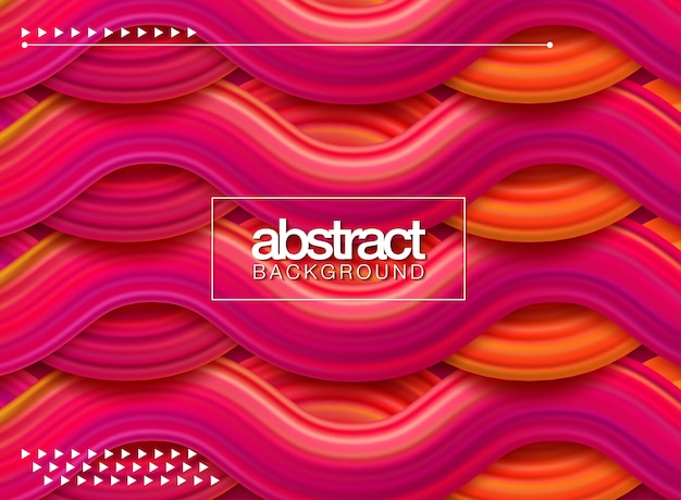 Affiche moderne de flux coloré. forme liquide wave sur fond de couleur bleue