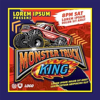 Affiche monster truck show