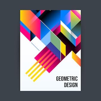 Affiche avec motif géométrique