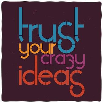 Affiche de motivation avec citation inspirante