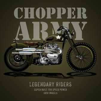 Affiche de moto chopper army