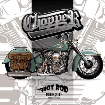 Affiche de moto de chopper