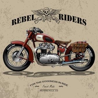 Affiche de moto chopper