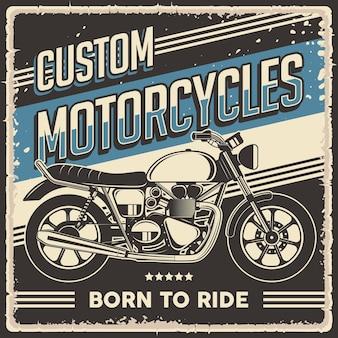 Affiche de moto classique vintage rétro