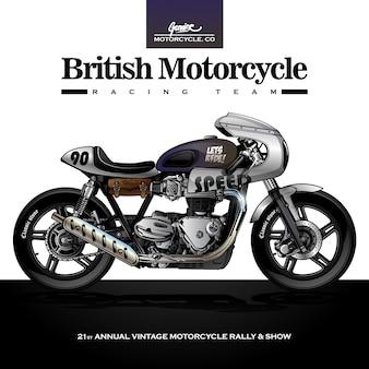 Affiche de moto de course classique