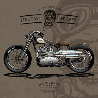Affiche de moto de freedom chopper