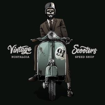 Affiche de moto vintage