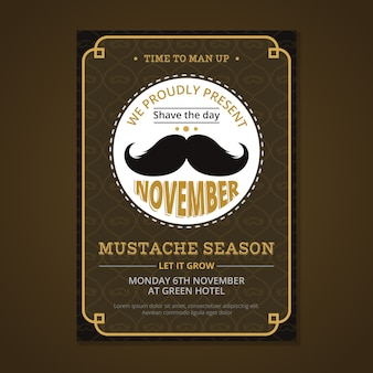 Affiche de movember marron