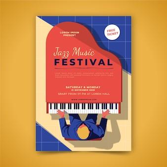Affiche musicale illustrée
