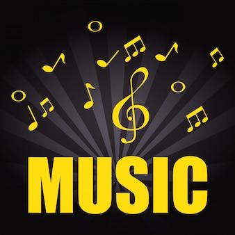 Affiche de musique avec des notes