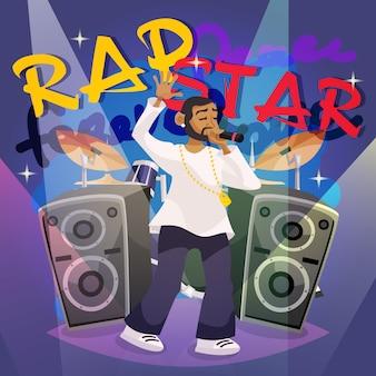 Affiche de musique rap
