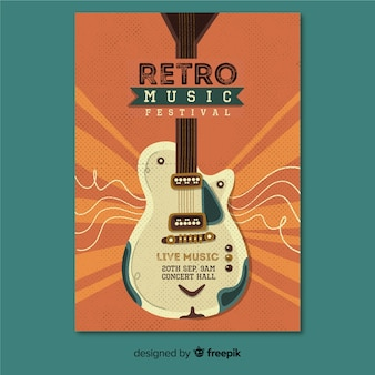 Affiche de musique rétro modèle