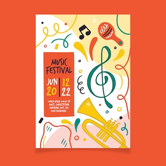 Affiche de musique avec tuba