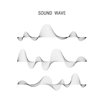 Affiche de musique vecteur abstrait avec des ondes sonores dynamiques