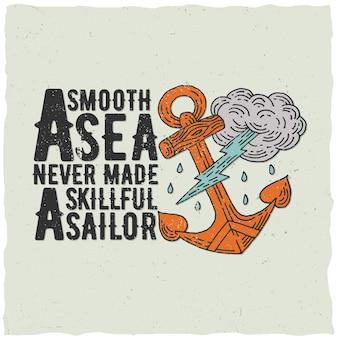 Affiche nautique originale